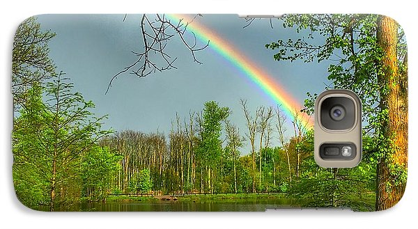 Galaxy Case featuring the photograph Rainbow At The Lake by Sumoflam Photography