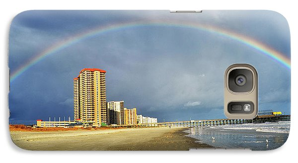 Galaxy Case featuring the photograph Rainbow Beach by Kelly Reber