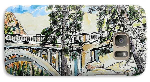 Galaxy Case featuring the painting Rainbow Bridge At Donner Summit by Terry Banderas
