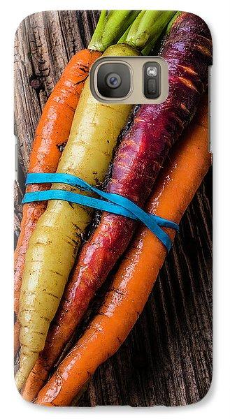 Rainbow Carrots Galaxy S7 Case by Garry Gay