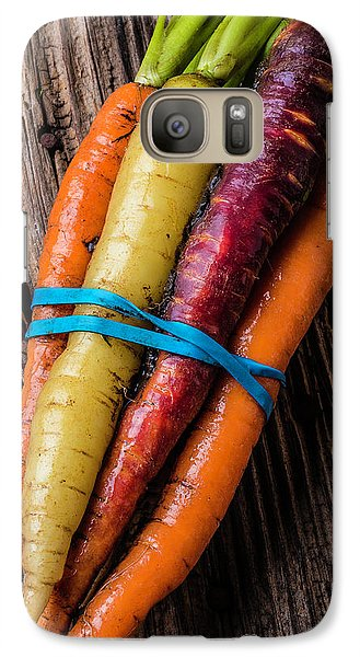 Rainbow Carrots Galaxy S7 Case by Garry Gay