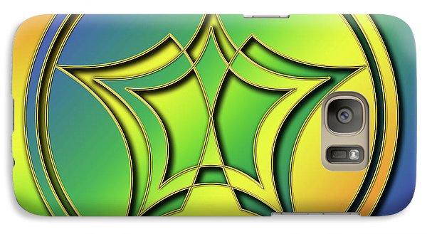 Galaxy Case featuring the digital art Rainbow Design 1 by Chuck Staley