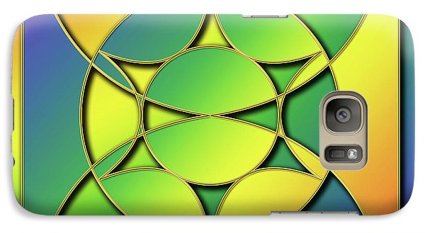 Galaxy Case featuring the digital art Rainbow Design 3 by Chuck Staley