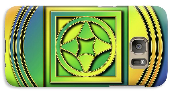 Galaxy Case featuring the digital art Rainbow Design 4 by Chuck Staley