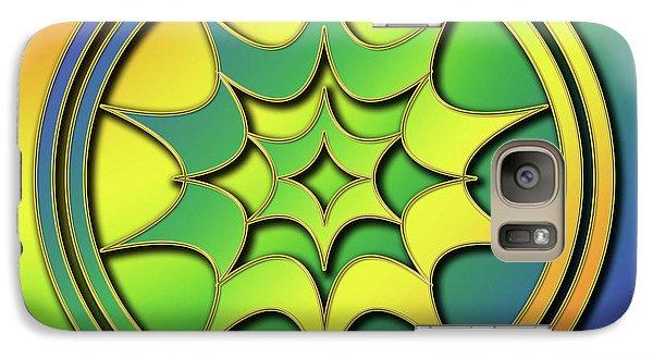 Galaxy Case featuring the digital art Rainbow Design 5 by Chuck Staley