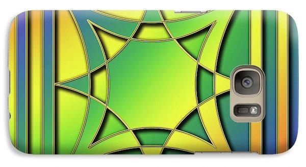 Galaxy Case featuring the digital art Rainbow Design 6 by Chuck Staley