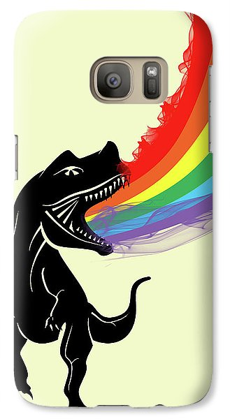 Rainbow Dinosaur Galaxy Case by Mark Ashkenazi