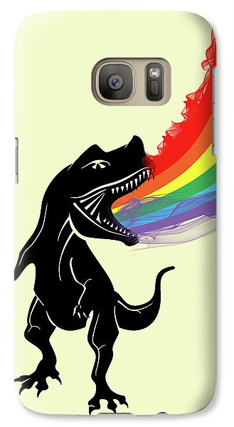 Rainbow Dinosaur Galaxy S7 Case by Mark Ashkenazi