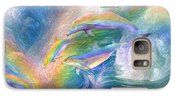 Rainbow Dolphins Galaxy S7 Case