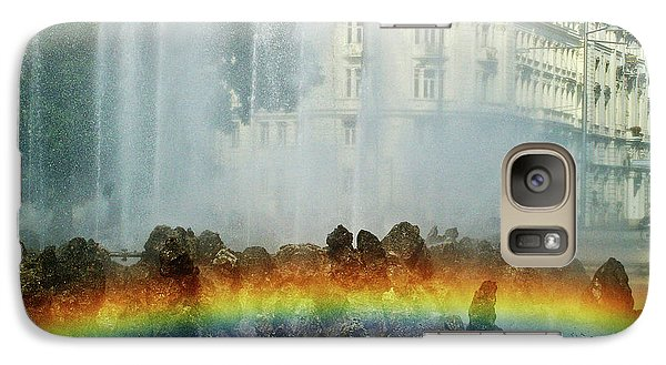 Galaxy Case featuring the photograph Rainbow Fountain In Vienna by Mariola Bitner
