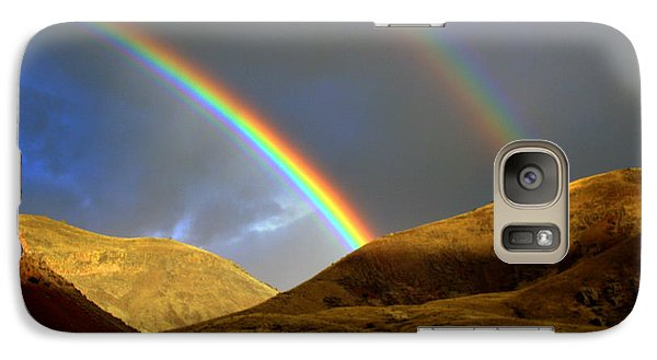 Galaxy Case featuring the photograph Rainbow In Mountains by Irina Hays