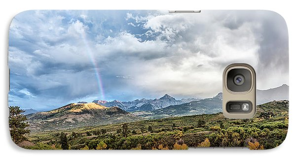 Galaxy Case featuring the photograph Rainbow In The San Juan Mountains by Jon Glaser