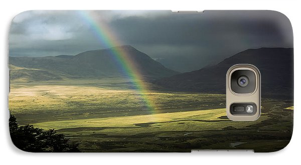 Galaxy Case featuring the photograph Rainbow In The Valley by Andrew Matwijec