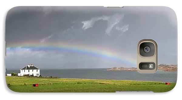 Galaxy Case featuring the photograph Rainbow, Island Of Iona, Scotland by John Short