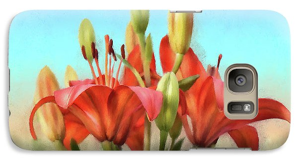 Galaxy Case featuring the photograph Rainbow Lilies by Lois Bryan