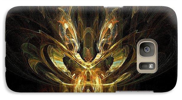 Galaxy Case featuring the digital art Rainbow Locust by R Thomas Brass