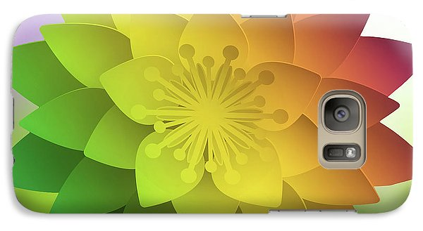 Galaxy Case featuring the digital art Rainbow Lotus by Mo T