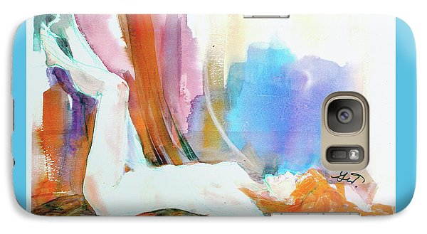 Galaxy Case featuring the painting Rainbow Nude by Gertrude Palmer