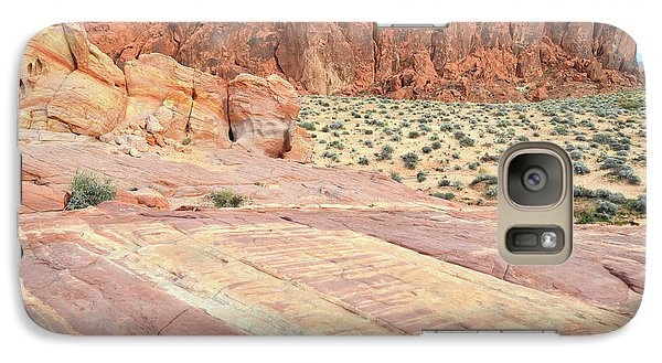 Galaxy Case featuring the photograph Rainbow Of Color In Valley Of Fire by Ray Mathis