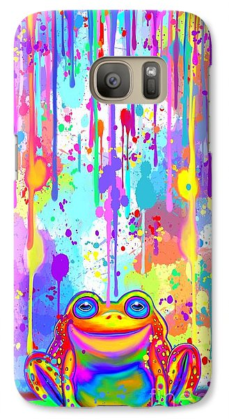 Galaxy Case featuring the painting Rainbow Painted Frog  by Nick Gustafson
