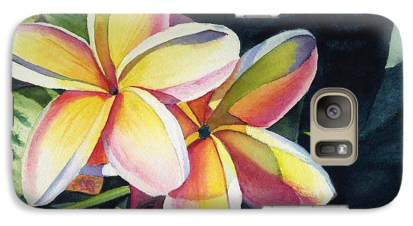 Flowers Galaxy S7 Case - Rainbow Plumeria by Marionette Taboniar