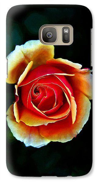 Galaxy Case featuring the photograph Rainbow Rose by John Haldane