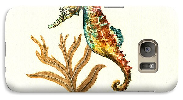 Rainbow Seahorse Galaxy S7 Case by Juan Bosco