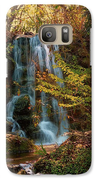Galaxy Case featuring the photograph Rainbow Springs Waterfall by Louis Ferreira
