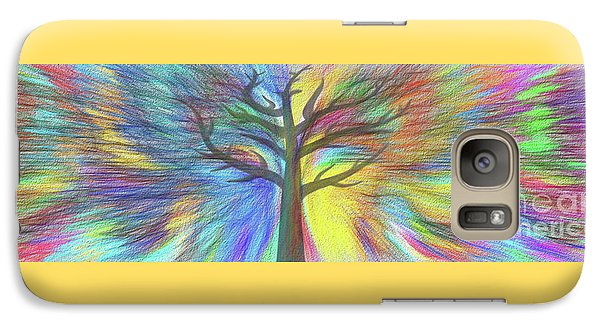 Galaxy Case featuring the digital art Rainbow Tree By Kaye Menner by Kaye Menner