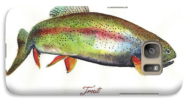 Rainbow Trout Galaxy Case by Juan Bosco