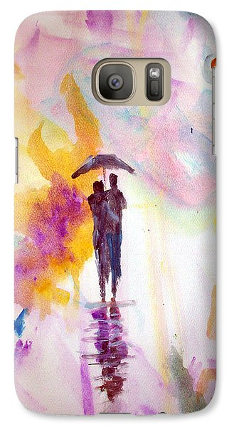 Galaxy Case featuring the painting Rainbow Walk Of Love by Raymond Doward