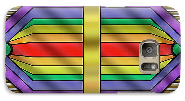 Galaxy Case featuring the digital art Rainbow Wall Hanging Horizontal by Chuck Staley