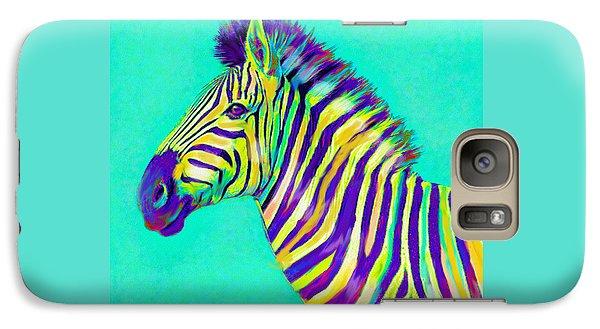 Rainbow Zebra 2013 Galaxy Case by Jane Schnetlage