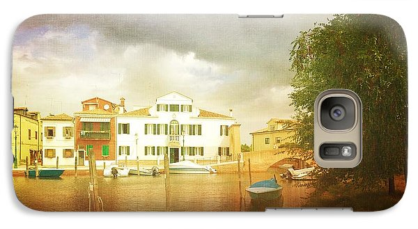 Galaxy Case featuring the photograph Raincloud Over Malamocco by Anne Kotan