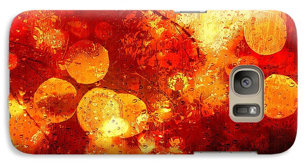 Galaxy Case featuring the digital art Raindrops And Bokeh Abstract by Fine Art By Andrew David