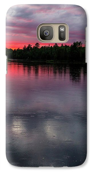 Galaxy Case featuring the photograph Raindrops At Sunset by Mary Amerman