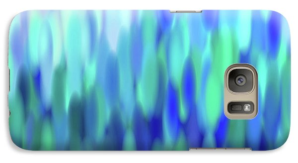 Galaxy Case featuring the tapestry - textile raindrops No.3 by Tom Druin