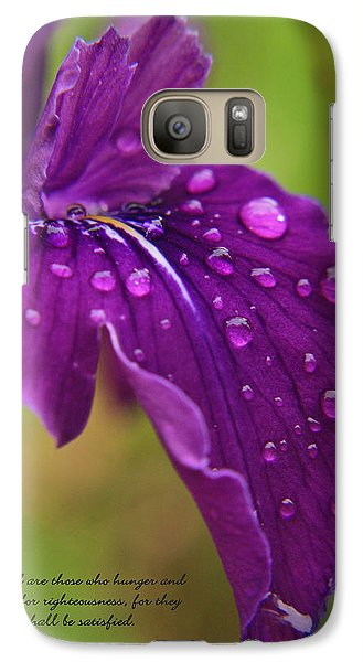Galaxy Case featuring the photograph Raindrops by Tyra  OBryant