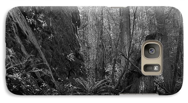 Galaxy Case featuring the photograph Rainforest Black And White by Sharon Talson