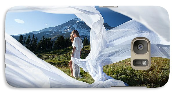 Galaxy Case featuring the photograph Rainier Ribbons by Dario Infini