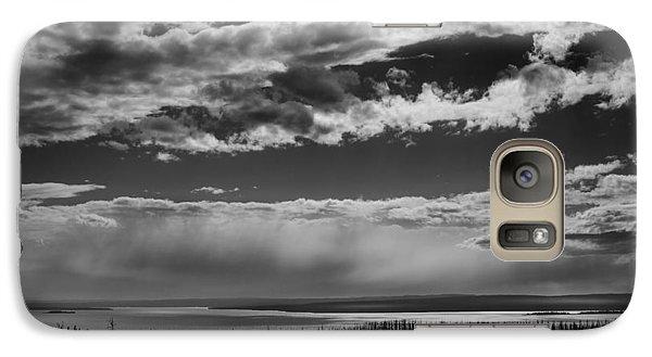 Galaxy Case featuring the photograph Raining At Yellowstone Lake by Jason Moynihan