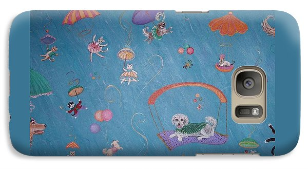 Galaxy Case featuring the painting Raining Cats And Dogs by Dee Davis