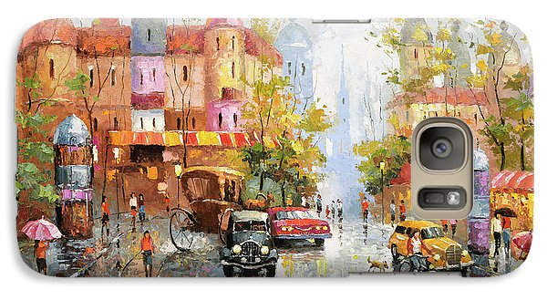 Galaxy Case featuring the painting Rainy Day 3 by Dmitry Spiros
