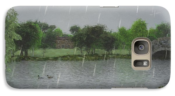 Galaxy Case featuring the digital art Rainy Day At The Lake by Jayne Wilson