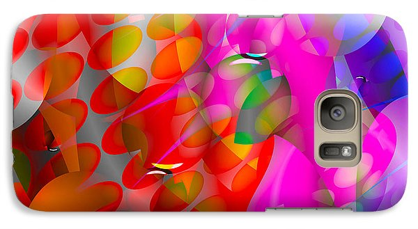 Galaxy Case featuring the digital art Rainy Day Girl by Robert Orinski