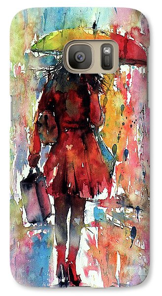 Galaxy Case featuring the painting Rainy Day by Kovacs Anna Brigitta