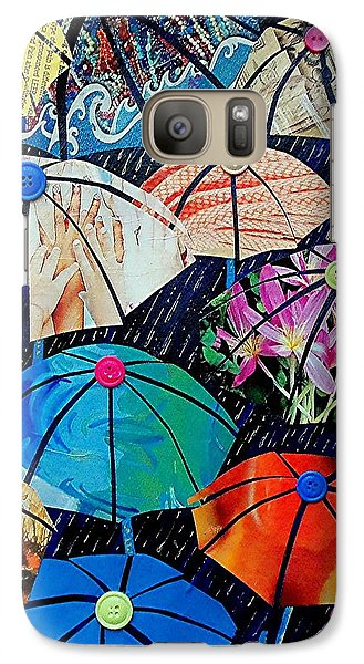 Galaxy Case featuring the painting Rainy Day Personalities by Susan DeLain