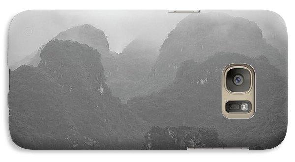 Galaxy S7 Case featuring the photograph Rainy Ha Long Bay, Ha Long, 2014 by Hitendra SINKAR