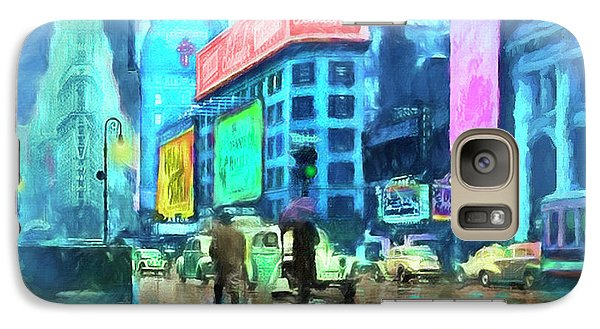 Galaxy Case featuring the painting Rainy Night In New York by Michael Cleere