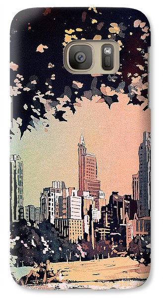 Galaxy Case featuring the painting Raleigh Skyline V by Ryan Fox